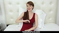 TeensDoPorn - Busty Red Head (Abbey Rain's) Porn Casting