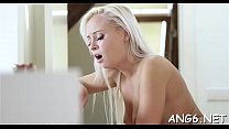 Sweet darling is releasing her needs by engulfing males shaft