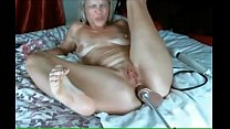 Blonde Cums From Anal With Machine