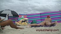 A taste of my friend Nude Beach MILF Mrs Brooks Voyeur POV 8