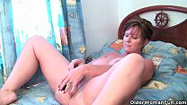 British grannies Joy and Becky love anal play thumbnail