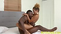 Tiny teen rides huge black dick