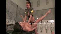 Blonde gets her breasts whipped