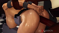Jessica 5000 at work! Crazy chef fucks hard a young brunette in restraints in the prison