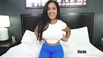 Latina Busty Brunette Sister Fucks Brother Afte...