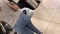 Huge White Candid Ass At the Northridge Mall