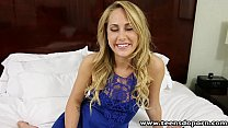 TeensDoPorn  sexy ass blonde babe Carter Cruise first time porn casting