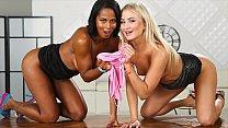 Stunning Blonde And Ebony Babe Enjoy Wet Hot Piss Session