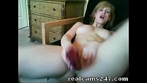 Sexy Blonde Toys in Front Of Webcam