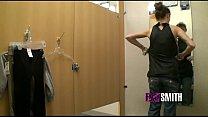 Big Tit Teen Masturbates in Dressing Room image