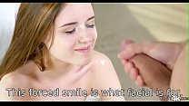 18307 This kind of forced smile is what facial cumshot is for! preview