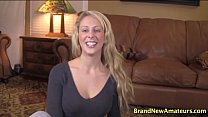 Cherie Deville casting gives her first blowjob ...