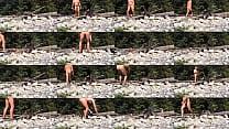 Naked Beach Bum Firing Up