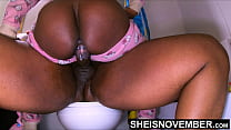 4k I Impregnated My StepDaughter On The Toilet, Msnovember Feels Stepdad Ejaculate Hot Sperm Deep Into Her Fertile Ebony Pussy, Getting Hardcore Real Creanpie Cumshot on Sheisnovember