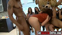 20 Cougars taking hot loads at secret CFNM party!12