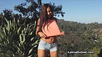Huge titty Latina girlfriend loves big cock