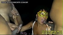 Brazilian Black Big Ass MILF wife gangbang 3 guys with her husband together