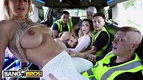 BANGBROS - Wild Limo Ride With Ashley Adams, Jane Wilde and Ryan Conner