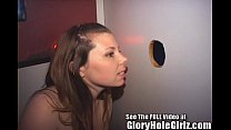 Cute Brunette Blowing Total Strangers At Local Tampa Gloryhole