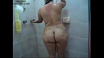 Aunty naked bathing