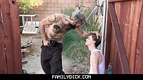 FamilyDick - Trailer Park Stepdaddy Fucks His Boy After Catching Him Smoking pornhub video