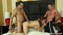 800DAD Big Tit MILF Allison Moore Cuckold Double Penetration
