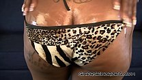 Curvy Black Ebony Girl With Big Tits Strips Out of Her Sexy Bikini and Oils Up Her Big Black Ass صورة
