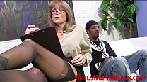 Married Cougar Boss Takes Black Employees Monster Cock In All Holes