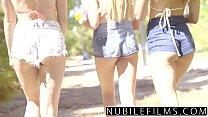 NubileFilms - Playful Coeds Have Intense Lesbian Threesome video