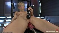 Blonde Natasha Starr fucking machines