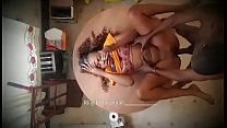 13730 Black ebony twins bang in the kitchen again preview