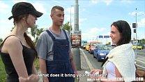 Image: Czech Teen Convinced for Outdoor Public Sex