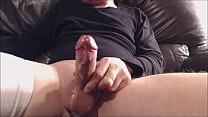 My solo 155 (On the couch stroking and spurting cum hard)