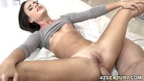 Lana Roy takes a big dick deep in her bunghole