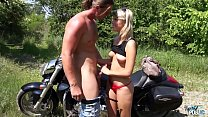 Barely Legal Blonde Fucked Outdoors for the First Time Preview