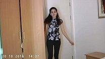 Indian hottie jasmine strippin show from her be...