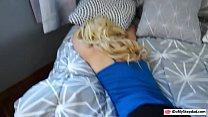 Hot ass blonde teen railed by pervert stepdad o...