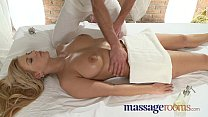 Massage Rooms Two young girls get a big cock deep in their tight holes صورة