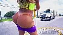 BANGBROS - Busty Latin MILF Julianna Vega Riding Big Cock Like A Pro On AssParade