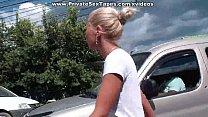 Man fucking his cute amateur girlfriend among sunflowers: blonde cougar thumbnail