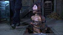 Strappado, claustrophobia and orgasm predicament for captive girl thumbnail