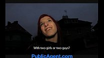 PublicAgent Bara Her pussy gets wet talking about sex thumbnail