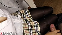 The teen jerks off a classmate's dick)))milking. SanyAny