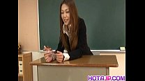 Sakura Hirota has hairy slit fucked at school thumbnail