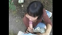 Big Tits Brunette MILF Outdoor Fuck for MONEY