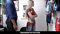 Petite Blonde Teen Shoplifter Delilah Day Caught With Clothes Under Hijab Fucked By Officer