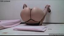Peeping Japanese Babe Open-wide Leg Stretch