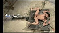 Dominic gets tied up and drived wild by a machine