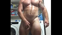 Bodybuilder Naked Sweaty Flexing in Garage OnlyfansDotComBeefBeast Musclebear Hairy Hung Big Dick Hot Sexy Bear Bull Onlyfans