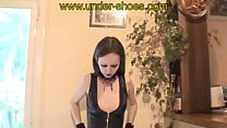 Our sexy Gothic Goddess Miss Arella Pantyhose trample
